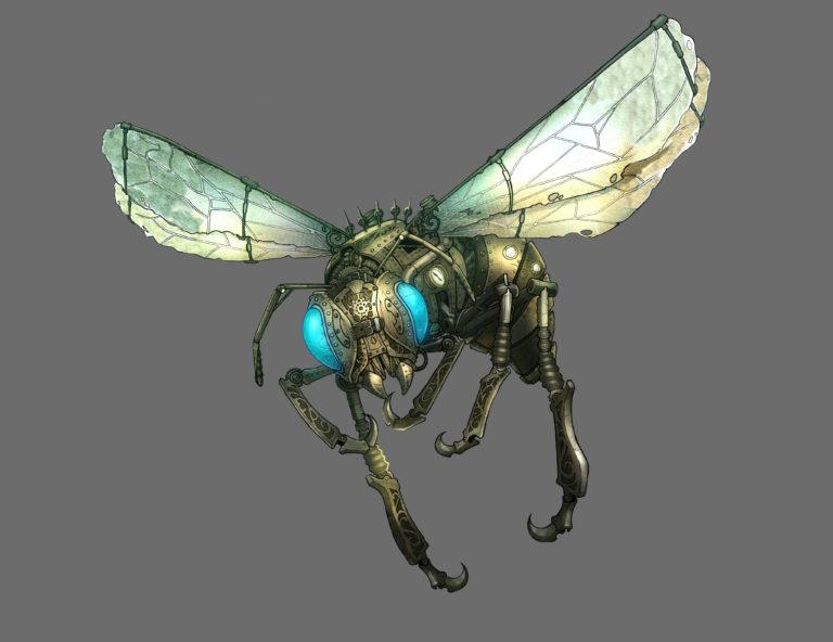 wip 2 nickbee - abeille mécanique