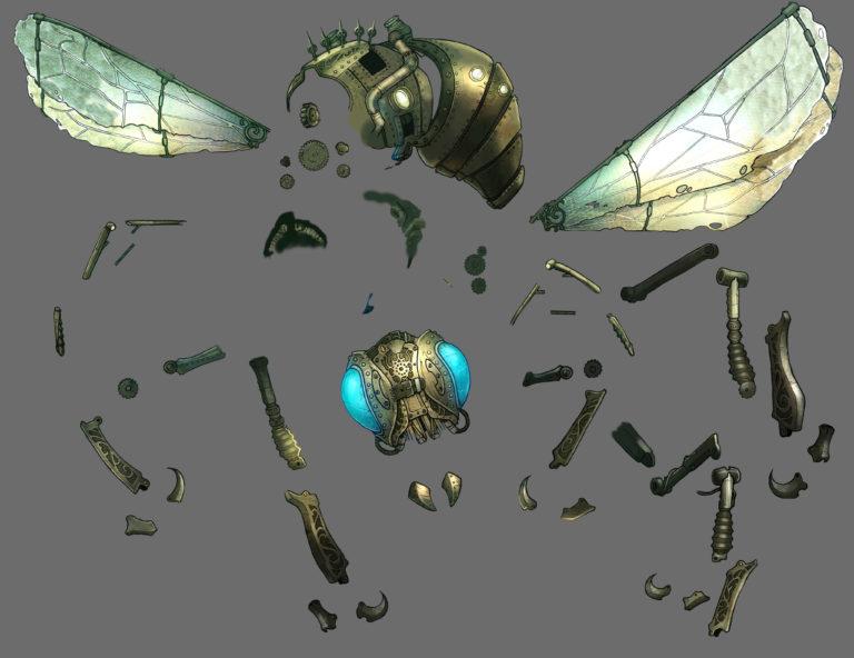 wip 3 nickbee - abeille mécanique en morceau