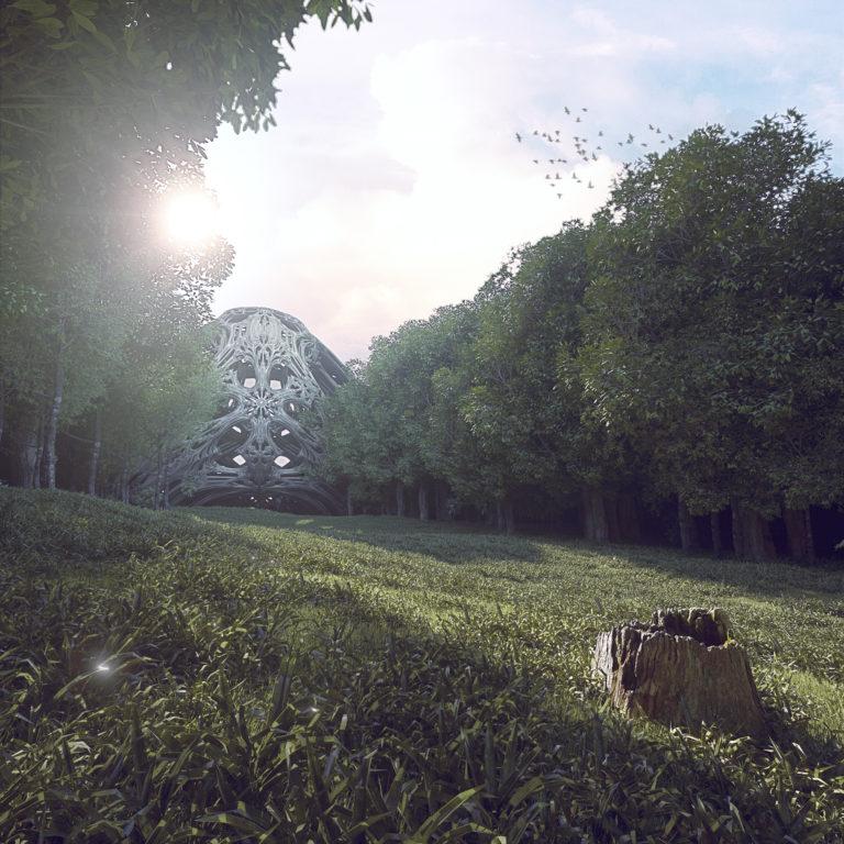 Rendu image clairière scène complète lost portal