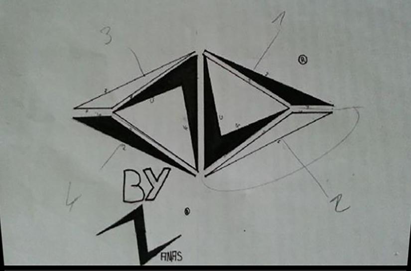 Première ébauche du logo namas - 2012