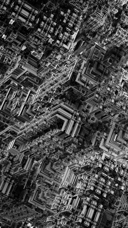 Coliseum - fractal 3d noir et blanc