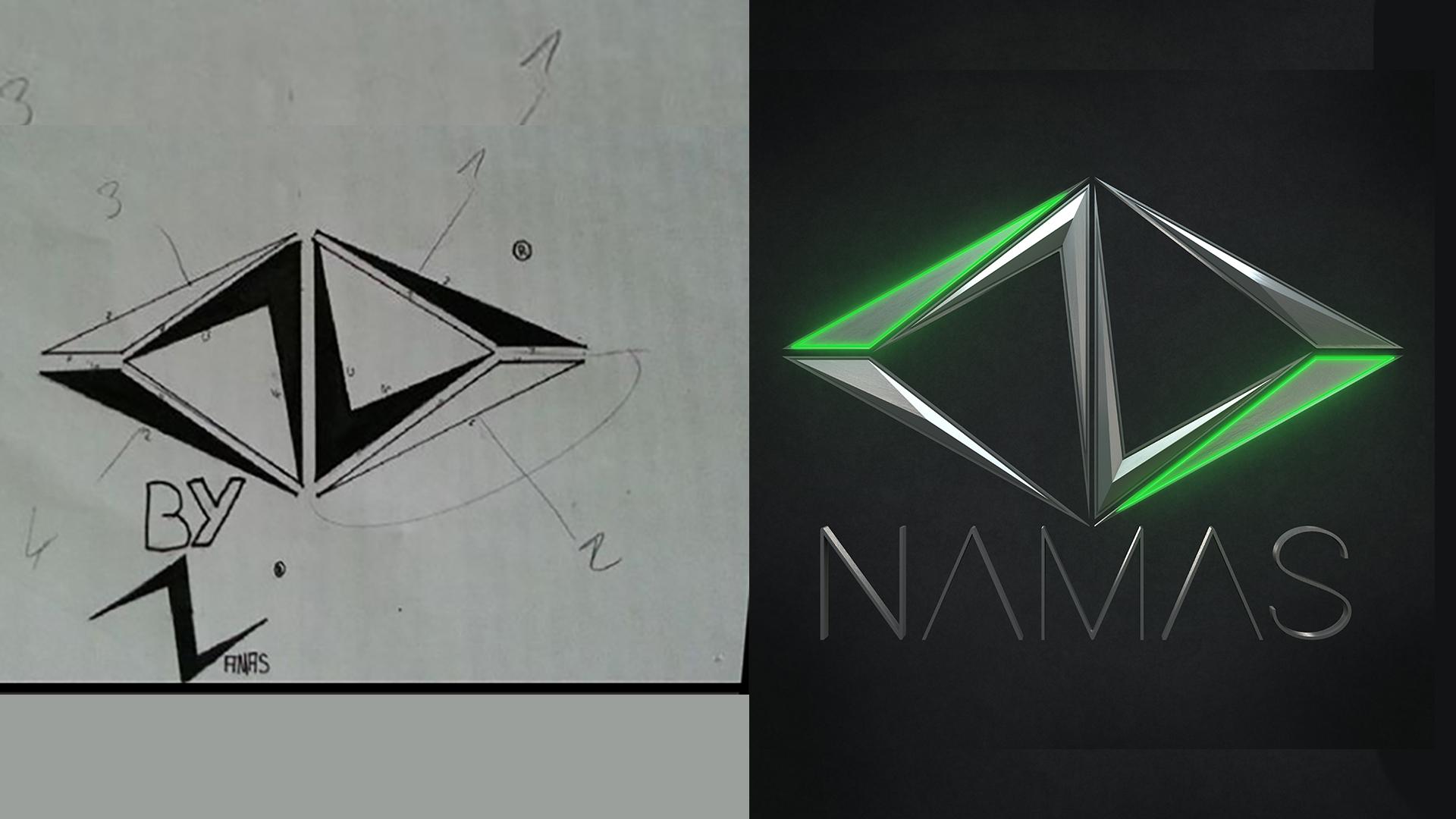 évolution logo namas 2012-2020