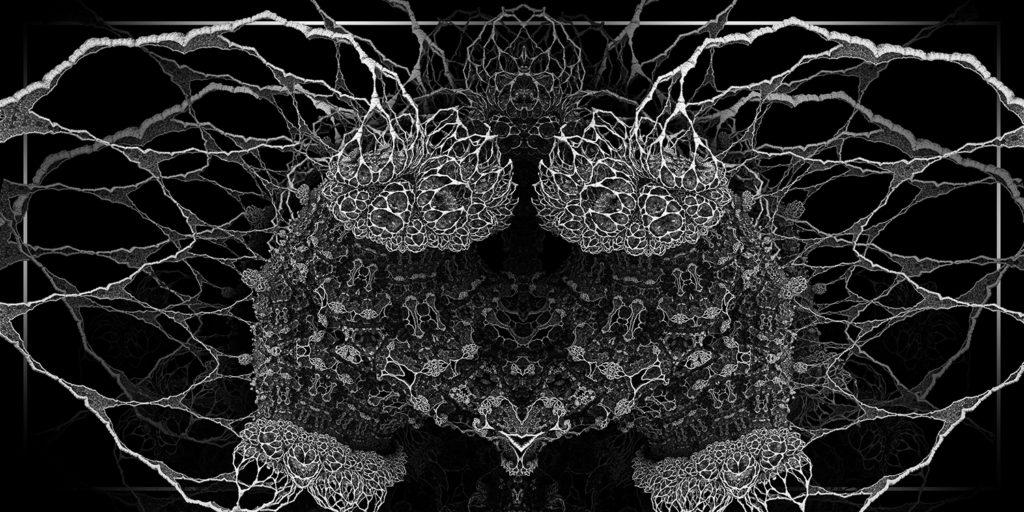 xxxxx - fractal 3d noir et blanc